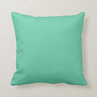 Aquamarine Solid Color Throw Pillow