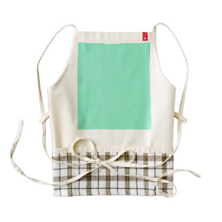 Aquamarine Star Dust Zazzle HEART Apron