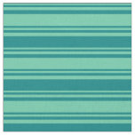 [ Thumbnail: Aquamarine & Teal Stripes Pattern Fabric ]