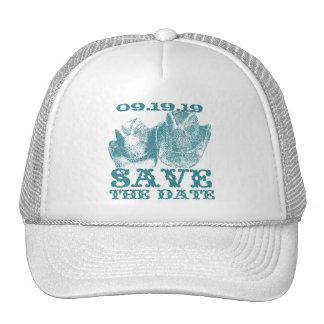 Aquamarine Teal Western Horse Ranch Farm Weddings Trucker Hat