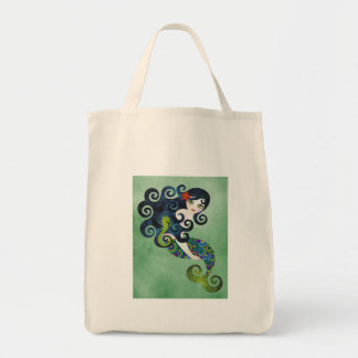 aquamarine, the teenage mermaid tote bags