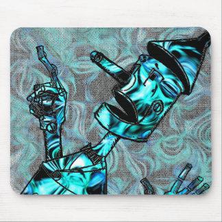Aquamarine Tin Man Mouse Pad
