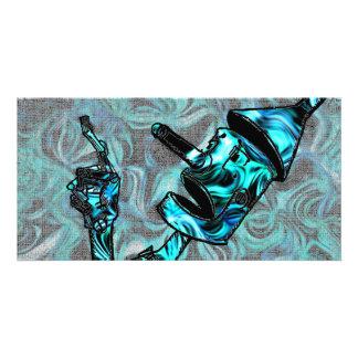 Aquamarine Tin Man Photo Card