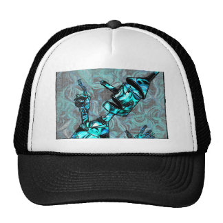 Aquamarine Tin Man Trucker Hat
