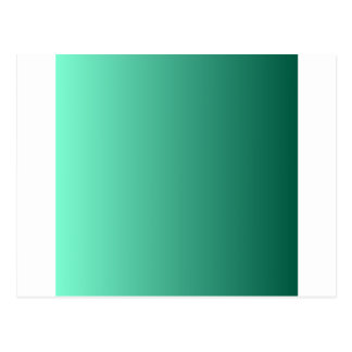 Aquamarine to Castleton Green Vertical Gradient Postcard