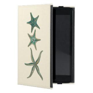 Aquamarine Triple Starfish iPad Mini Covers