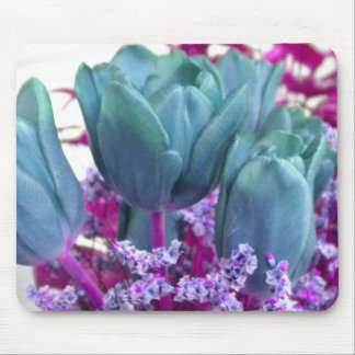 Aquamarine Tulips Mousepad