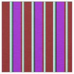 [ Thumbnail: Aquamarine, Turquoise, Maroon, Dark Violet & Black Fabric ]