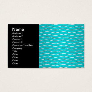Aquamarine Turquoise Modern Pattern Business Card