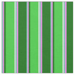 [ Thumbnail: Aquamarine, Violet, Dark Green, Lime Green & White Fabric ]