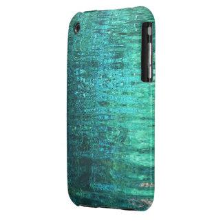 Aquamarine Water Ripples iPhone3 Case Mate iPhone 3 Cases