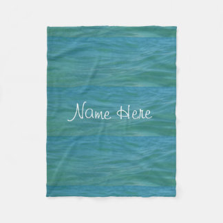 Aquamarine Waves Beach Waves Tropical Blue Green Fleece Blanket