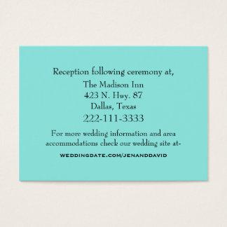 Aquamarine Wedding Enclosure Card