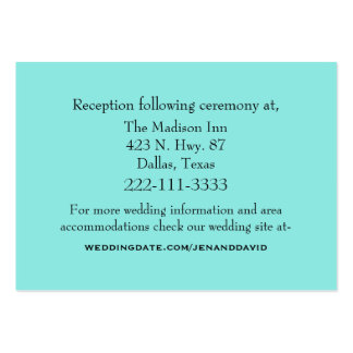 Aquamarine Wedding Enclosure Card Large Business Cards (Pack Of 100)
