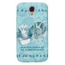 Aquamarine Western Vintage Weddings Samsung Galaxy S4 Case
