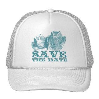 Aquamarine Western Vintage Weddings Trucker Hat