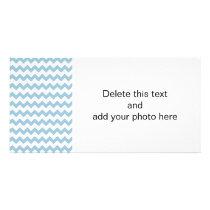 Aquamarine White Chevron Pattern Card