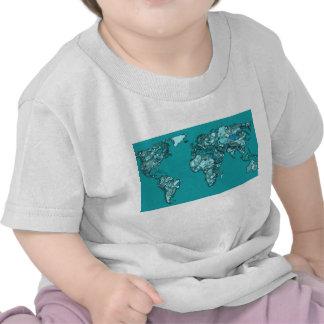 aquamarine world map tshirts