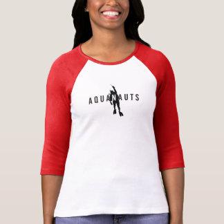 Aquanauts Logo Women's 3/4 Sleeve Raglan T-Shirt