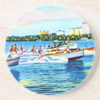 Aquaplaning en la bahía de Biscayne Miami la Flo Posavasos Cerveza