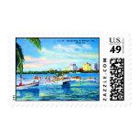 Aquaplaning en la bahía de Biscayne, Miami, la Envio