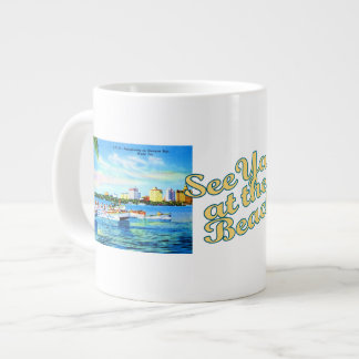 Aquaplaning in Biscayne Bay - See Ya at the Beach 20 Oz Large Ceramic Coffee Mug