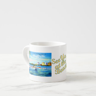 Aquaplaning in Biscayne Bay - See Ya at the Beach Espresso Mugs