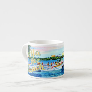 Aquaplaning in Biscayne Bay - See Ya at the Beach 6 Oz Ceramic Espresso Cup