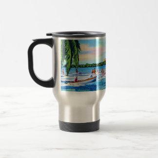 Aquaplaning on Biscayne Bay, Miami, Florida 15 Oz Stainless Steel Travel Mug