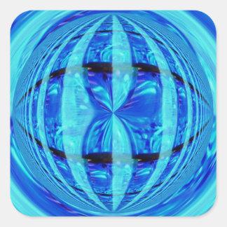 Aquare azul del pegatina del orbe