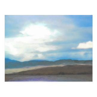 aquarel of scottish landscape postcard