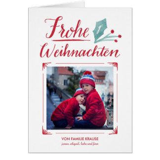 Aquarell & Kalligraphie | Frohe Weihnachten Card
