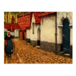 Aquarelle a quiet alley in Bruges Post Card