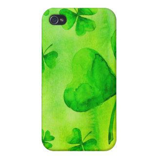 Aquarelle clovers iPhone 4 case