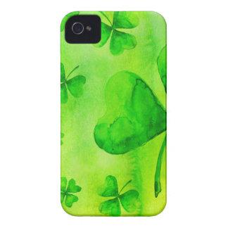 Aquarelle clovers iPhone 4 Case-Mate case
