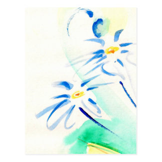 Aquarelle Daisies Postcard