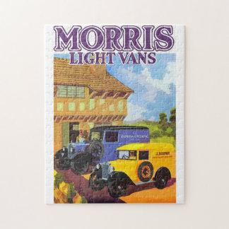 Aquarelle vintage ad British vans Puzzle