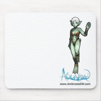 """Aquaria - Naija says """"Hi."""" Mouse Pads"""