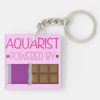 Aquarist Chocolate Gift for Woman Double-Sided Square Acrylic Keychain