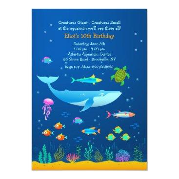 Valentines Themed Aquarium Adventure Invitation