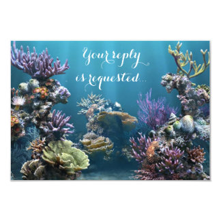 Aquarium Bat Mitzvah RSVP Card