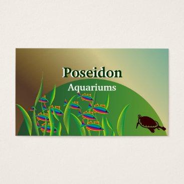 Professional Business Aquarium Business Cards