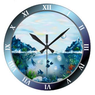 Aquarium Custom Large Round Wall Clock