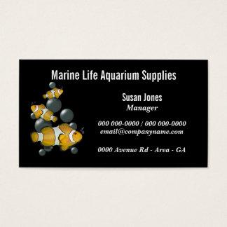 Aquarium fish supplies freshwater saltwater business card