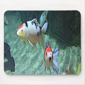 aquarium fishes, paint mouse pad