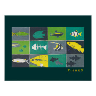 aquarium graphic fishes poster