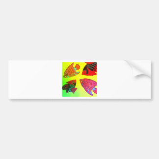 Aquarium in brilliant colors bumper sticker