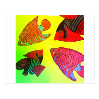 Aquarium in brilliant colors postcard