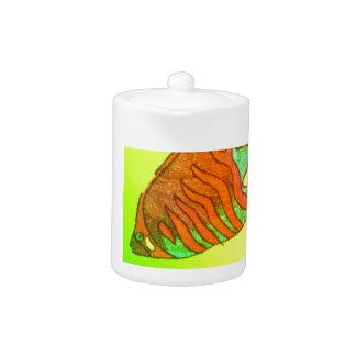 Aquarium in brilliant colors teapot