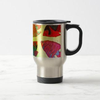 Aquarium in brilliant colors travel mug